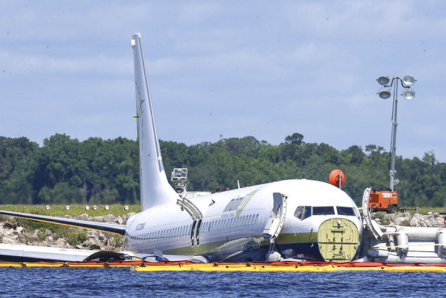 All survive as plane carrying US military crashes into river