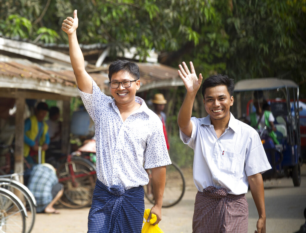 2 journalists freed from prison after more than a year in Myanmar