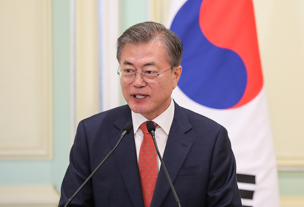 S.Korean president sees DPRK's projectile launches as call for dialogue resumption