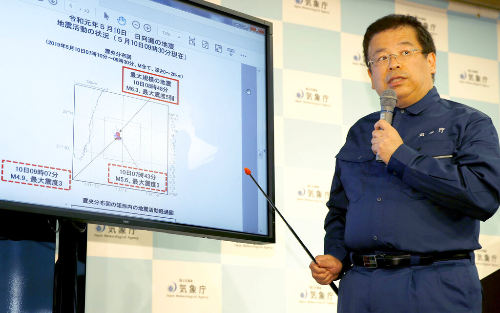 Southwest Japan rocked by series of earthquakes, no tsunami warnings issued