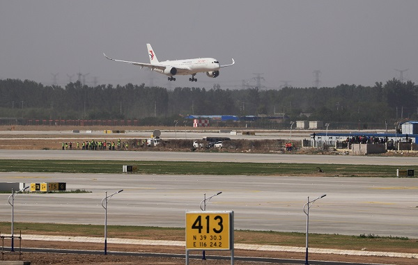 Beijing's new airport welcomes first commercial jets in test flights