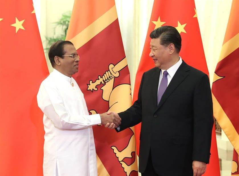 Xi meets Sri Lankan president