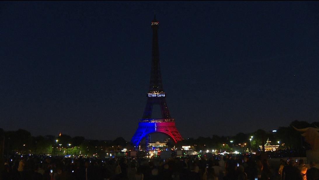 The Eiffel Tower marks its 130th birthday with a light show