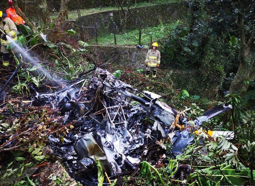 At least 1 dead from helicopter crash in Hong Kong