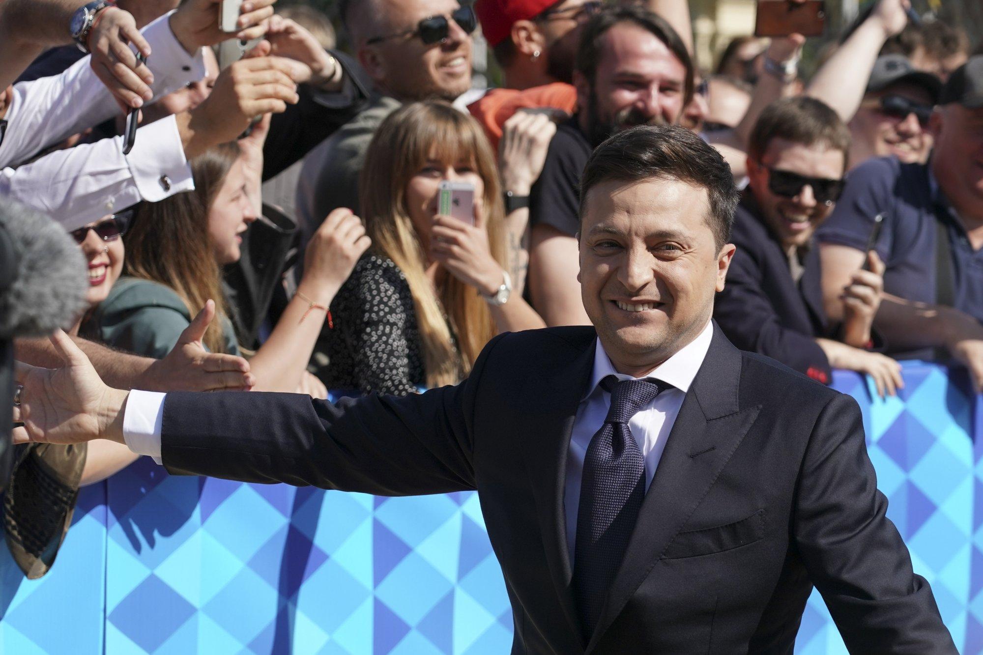 TV comedian Zelenskiy sworn in as Ukraine's president