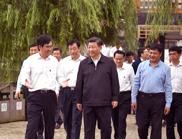 Xi visits village of old revolutionary base