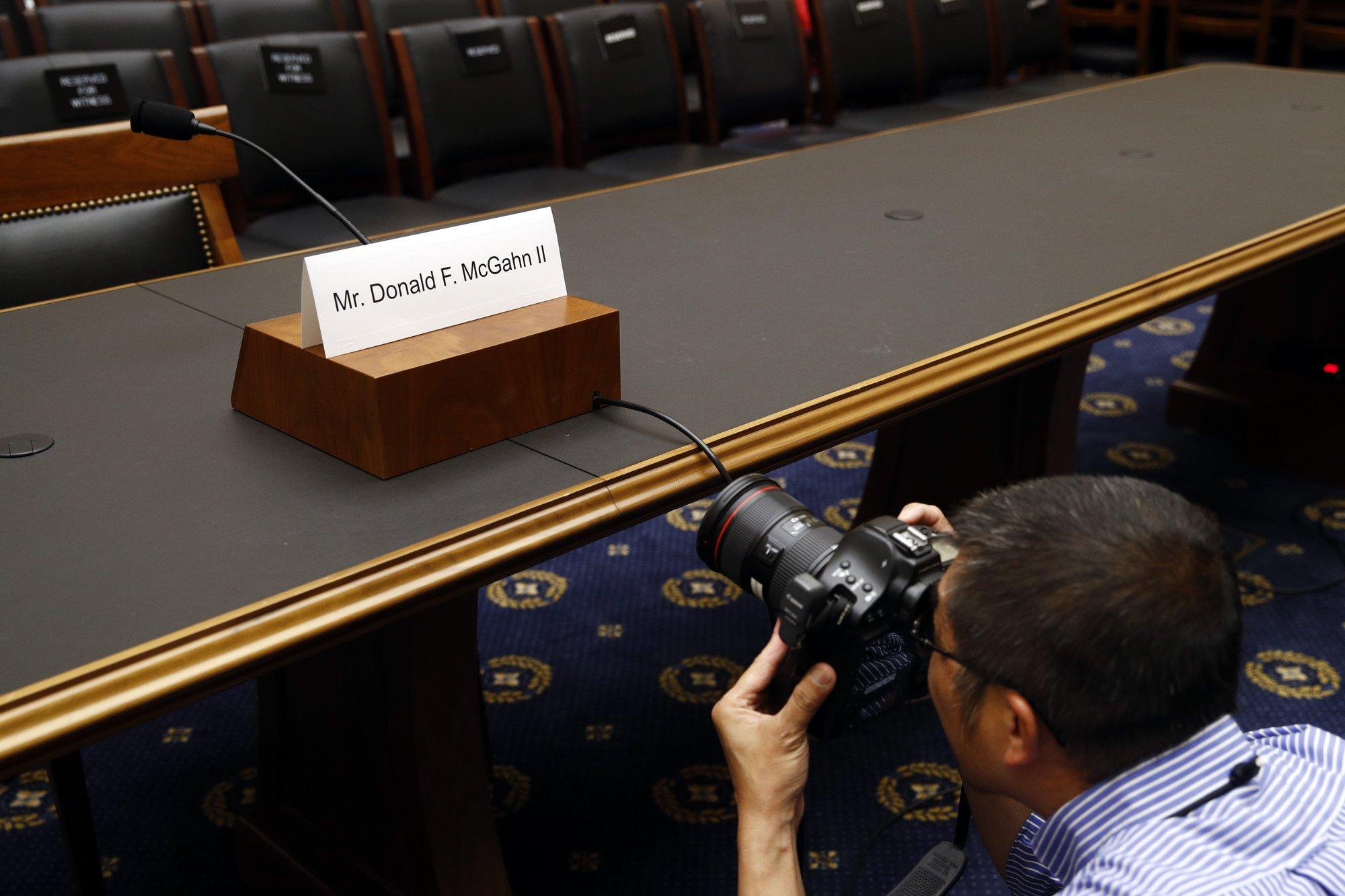 McGahn defies subpoena for testimony, faces contempt vote