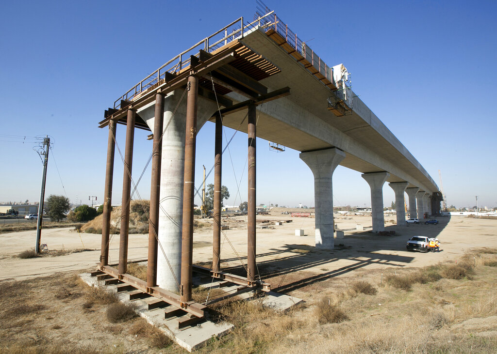 California sues Trump administration for canceling fund for high-speed rail