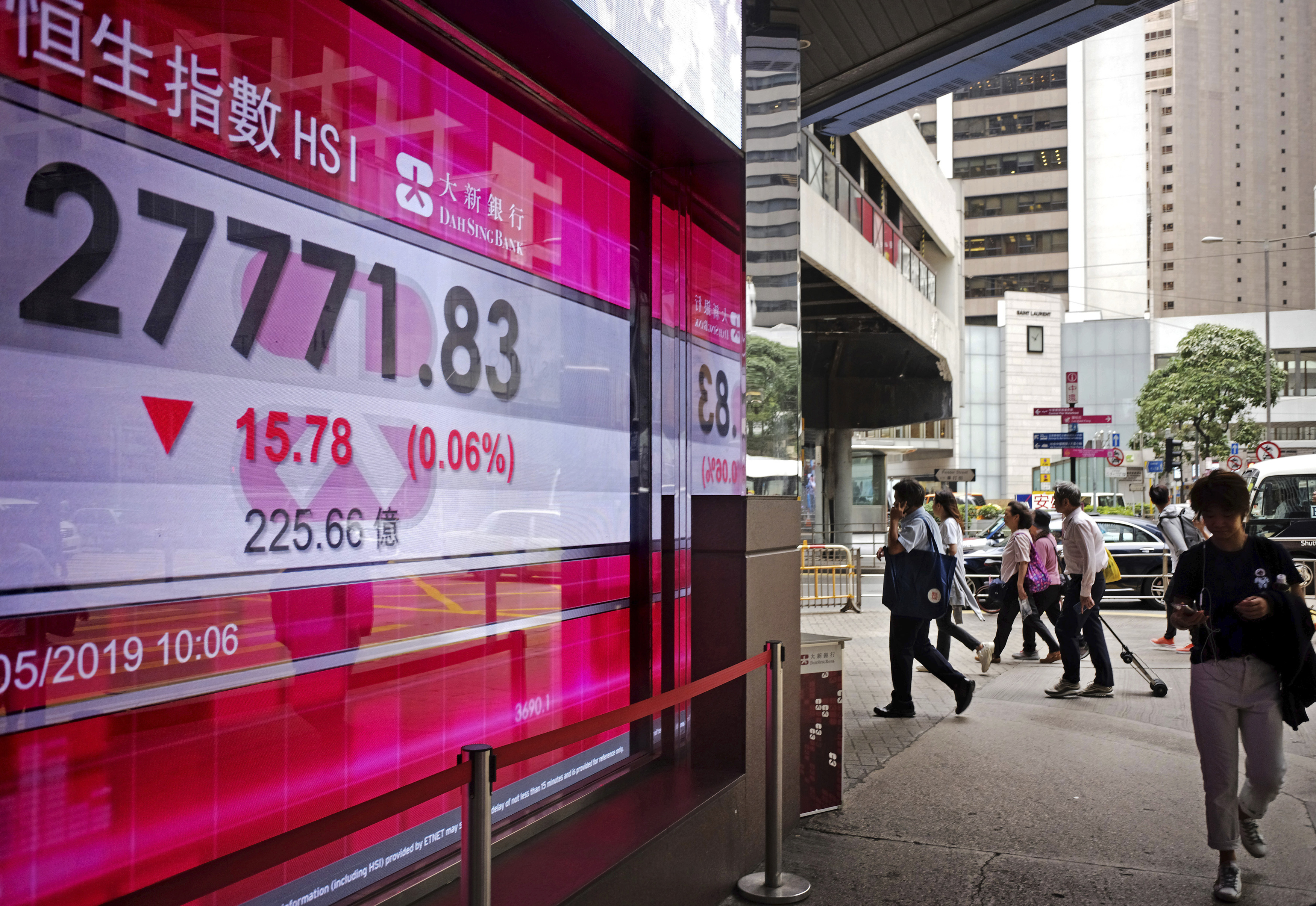 Hong Kong stocks open 0.72 pct lower