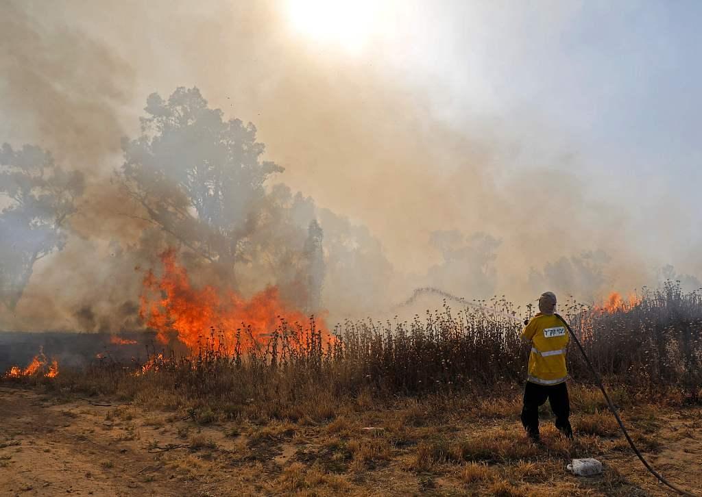 Wildfires sweep across Israel as heatwave grips region