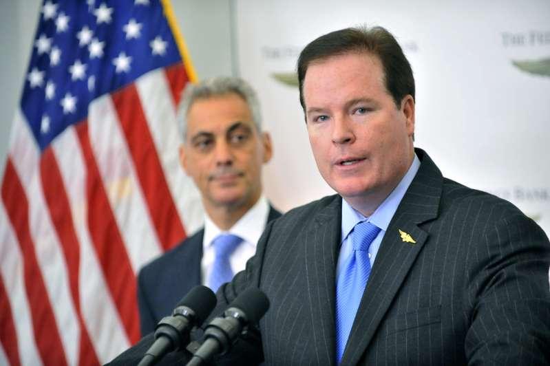 Bank CEO pleads not guilty in bid to get Trump post