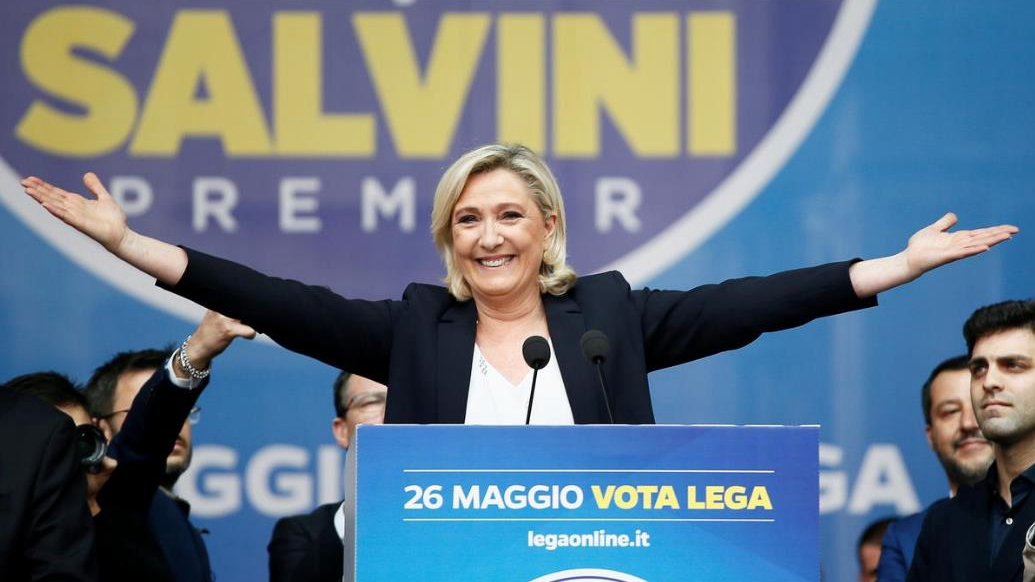 French far-right tops poll, EU vote turns into Le Pen, Macron duel