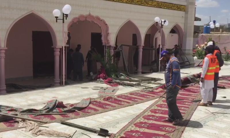 Two dead, over a dozen injured in mosque blast in southwest Pakistan: police