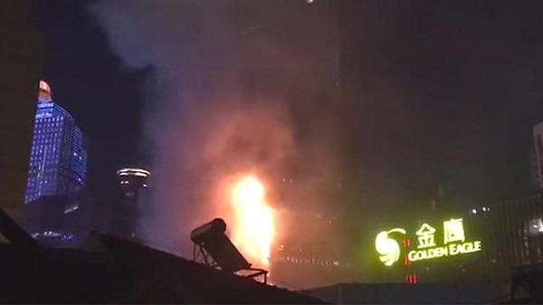 No casualties reported in Nanjing shopping mall fire