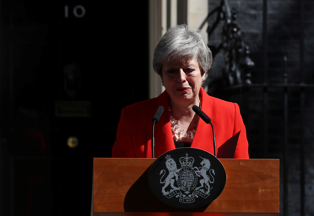 Tearful May calls time on premiership overshadowed by Brexit