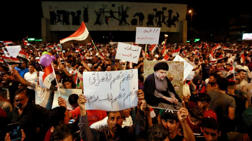 Iraqi protesters rally against possible US-Iran war