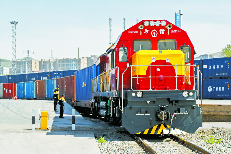 Urumqi center sees off thousands of China-Europe freight trains