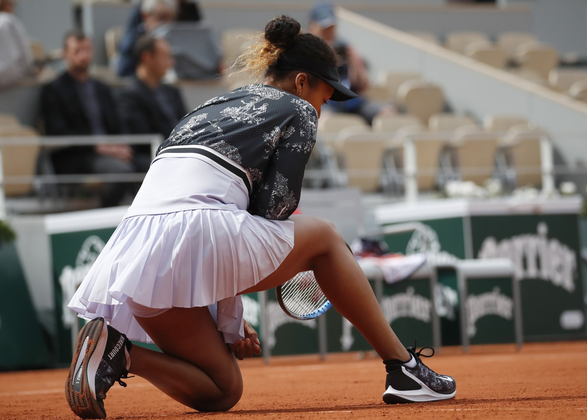 1 but not done: Top-seeded Osaka avoids upset at French Open