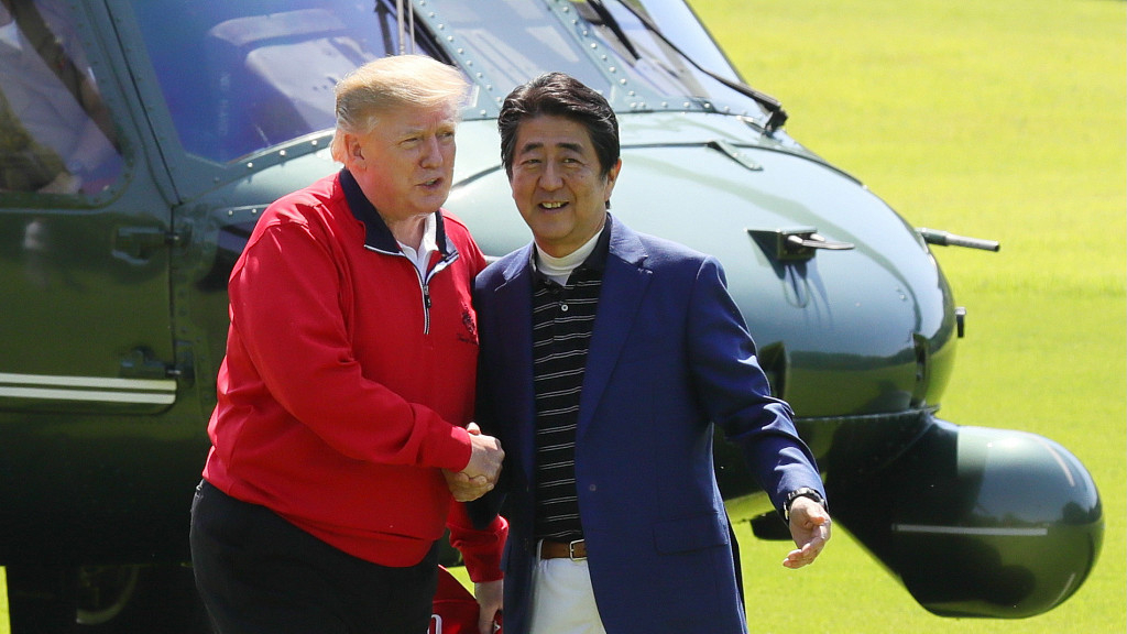 US-Japan honeymoon summit is cover-up for Abe's diplomatic fiasco