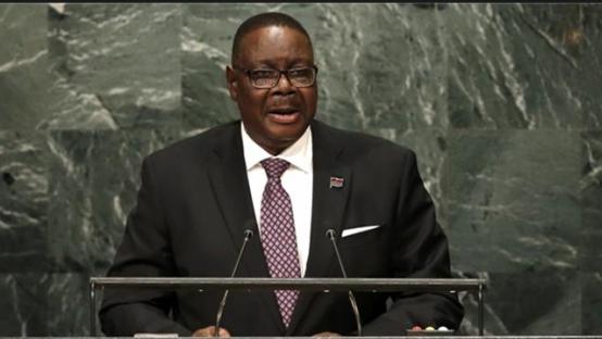Malawian President Peter Mutharika cgtn 0528.jpg