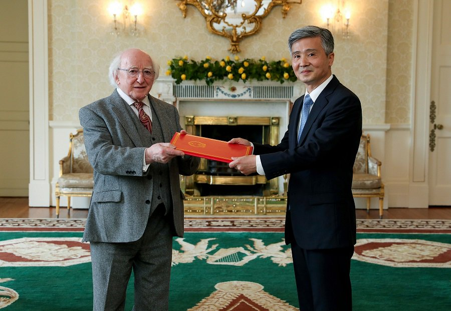 Ireland attaches great importance to ties with China, Irish President says