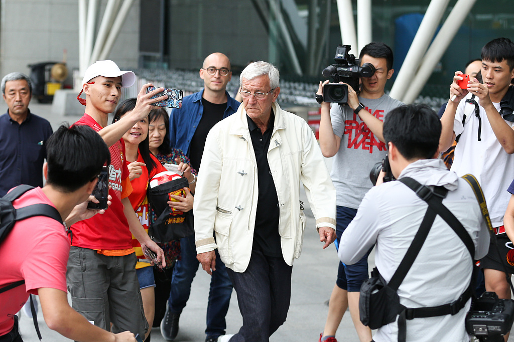 Lippi arrives in Guangzhou to begin his second spell with China