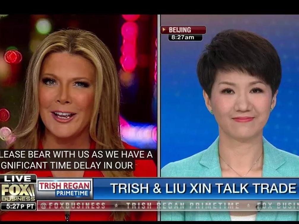 CGTN anchor Liu Xin and Fox host Trish Regan hold live debate on China-US trade issues