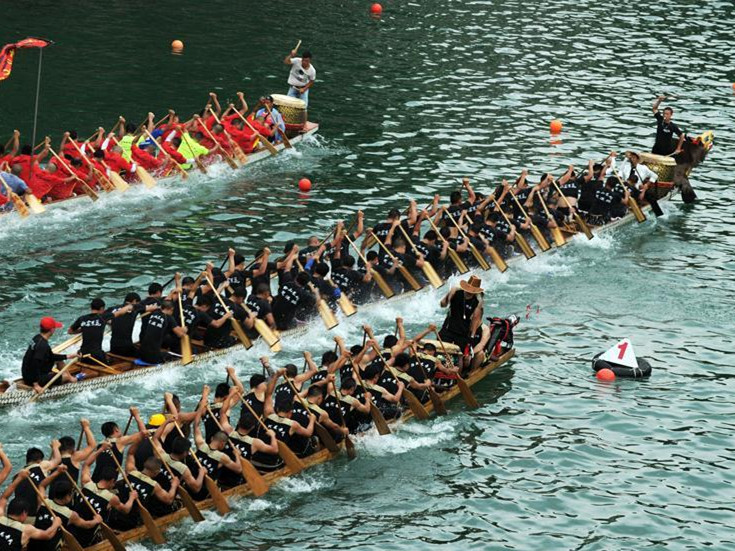 Beating the heat for Dragon Boat Festival