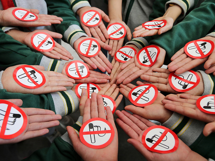 Students join efforts against use of tobacco