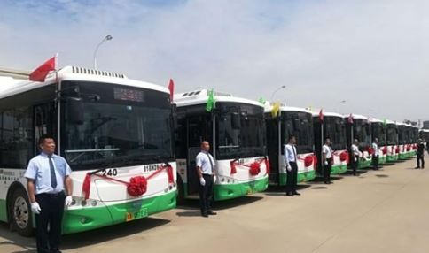 Chinese city opens hydrogen bus routes