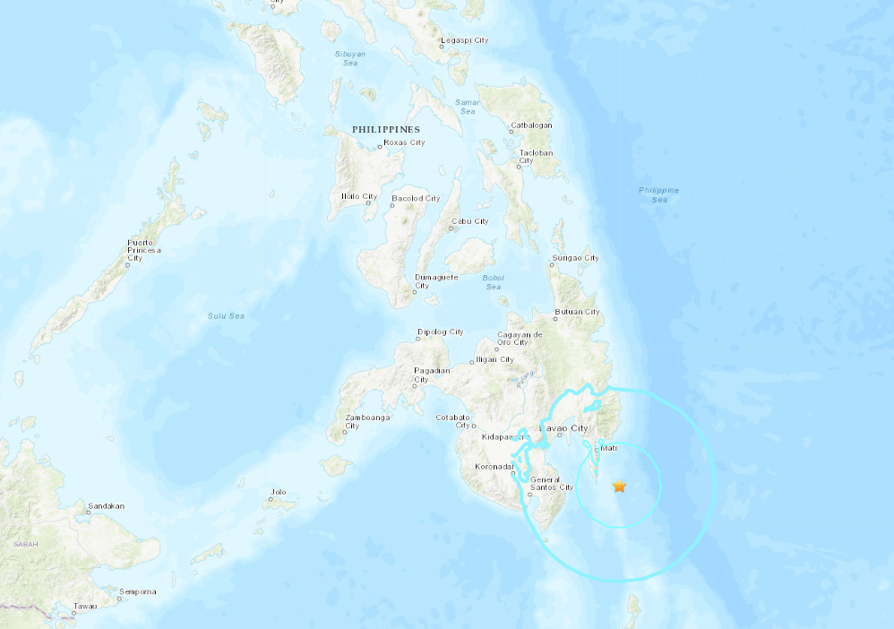 6.1-magnitude quake hits 42km ESE of Pondaguitan, Philippines -- USGS
