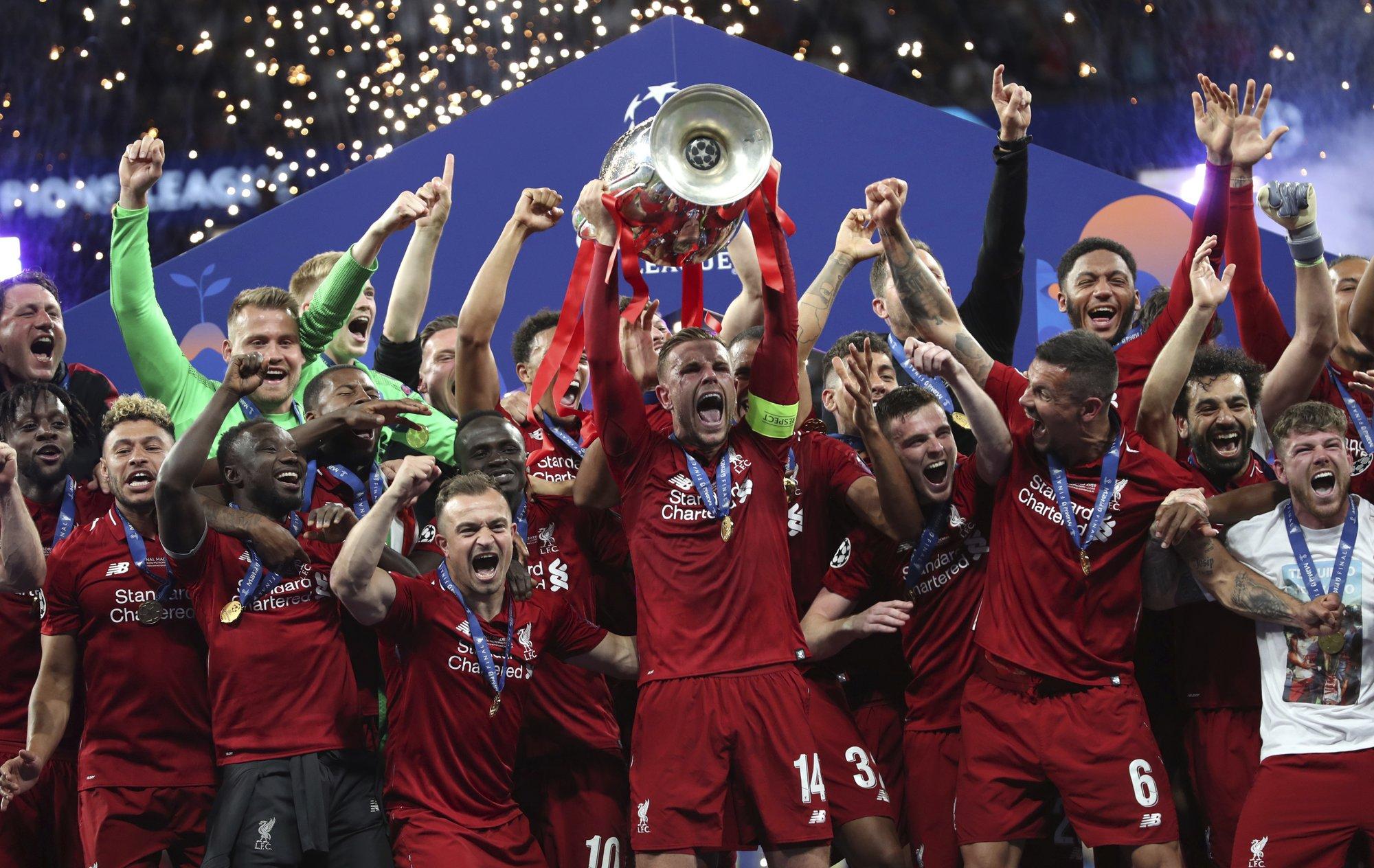 Liverpool beats Tottenham 2-0 to win sixth European title