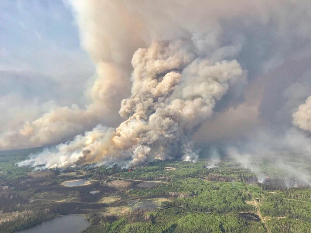 Wildfire causes thousands to be placed on evacuation alert in Canada