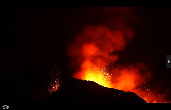 Mount Etna lights sky with bursts of lava