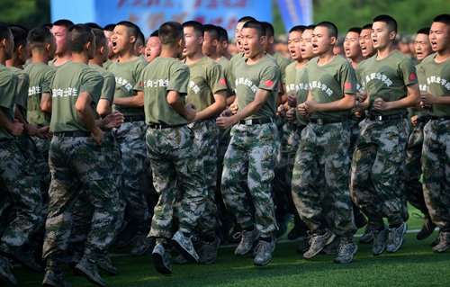 Recruitment ceremony looks to bring more young people into army