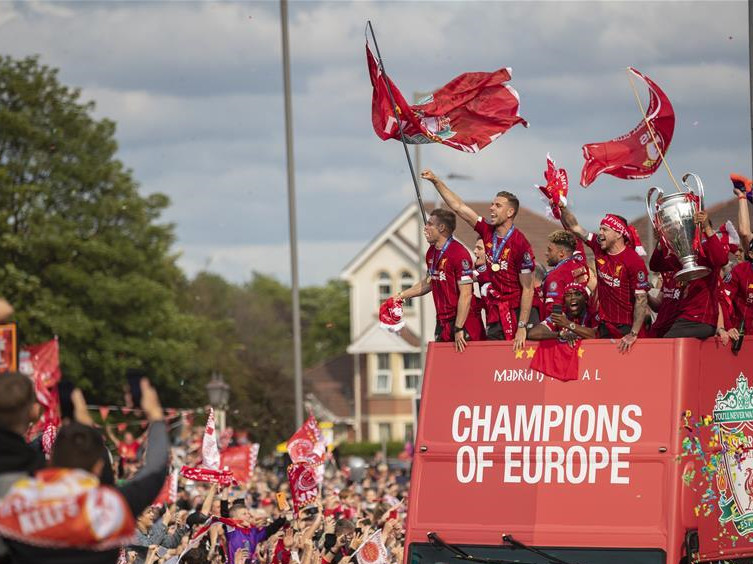 Liverpool celebrate UCL win with victory parade