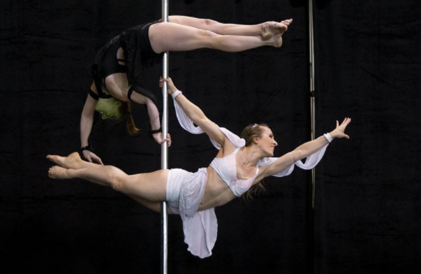 Pole fitness competition at Pro SuperShow in Toronto