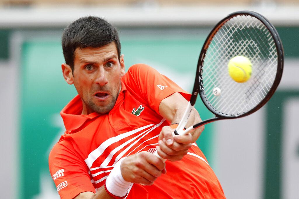 Djokovic in 10th French Open quarterfinal in row