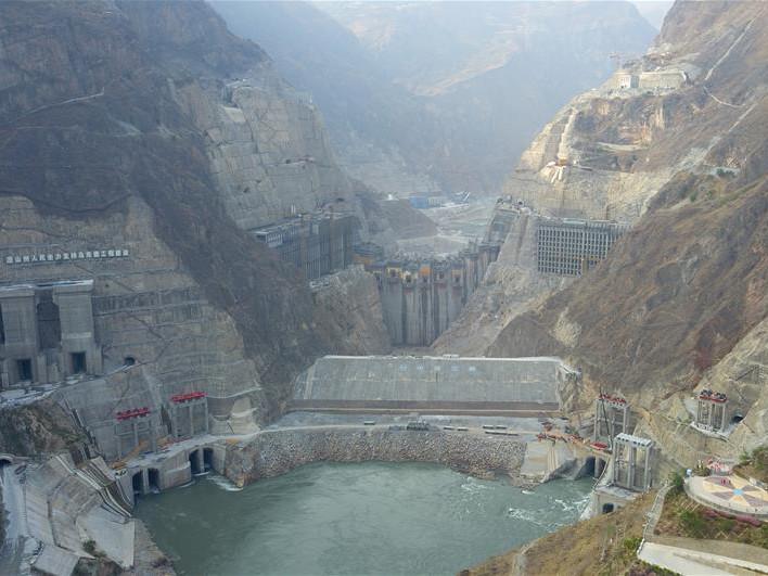 Wudongde Hydropower Station under construction in Sichuan