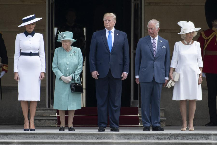 Protests, pomp as Trump in UK for state visit
