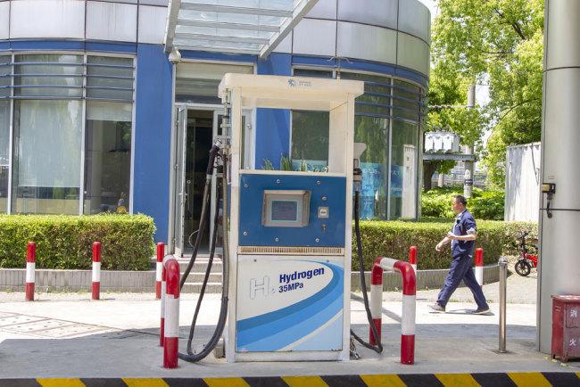Shanghai unveils mega hydrogen station