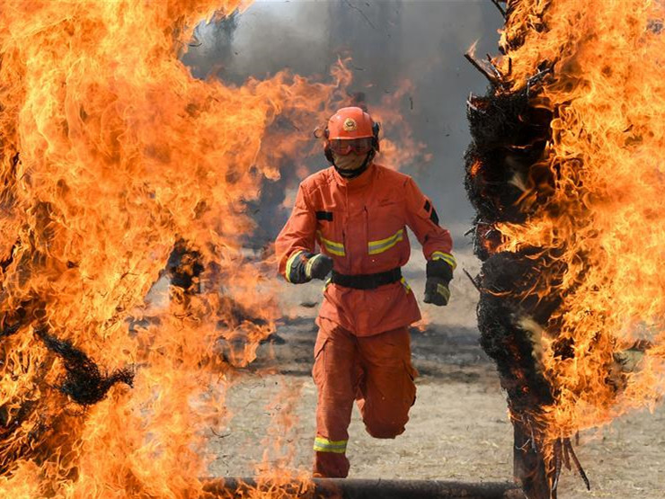 Newly-recruited firemen receive training