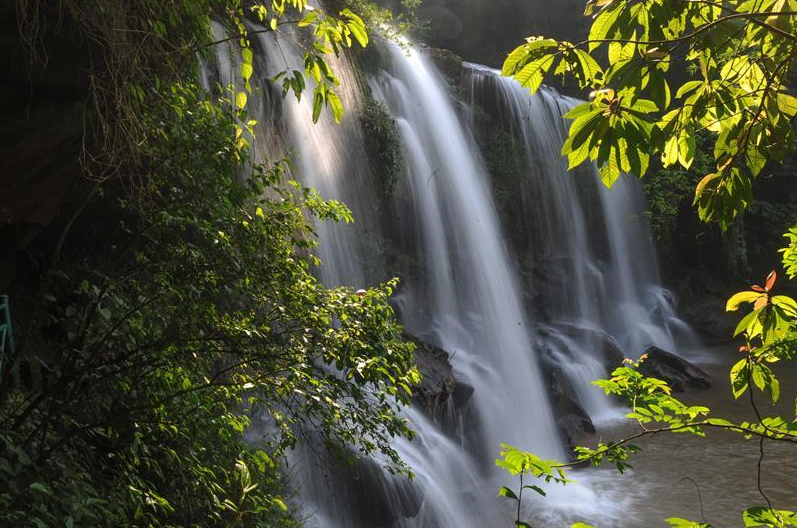 Scenery of waterfalls in Chishui, SW China's Guizhou