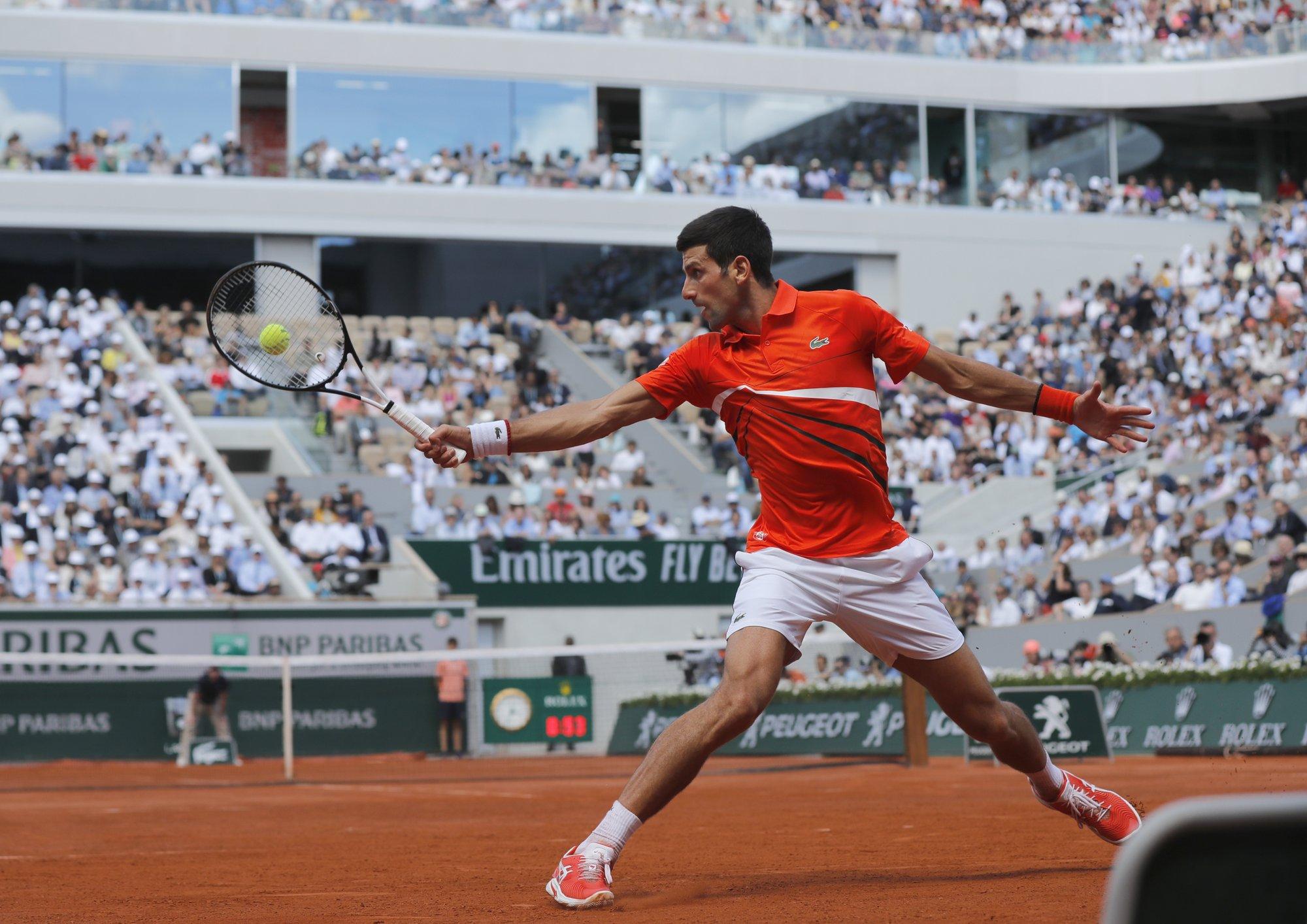 Djokovic reaches French Open semifinals
