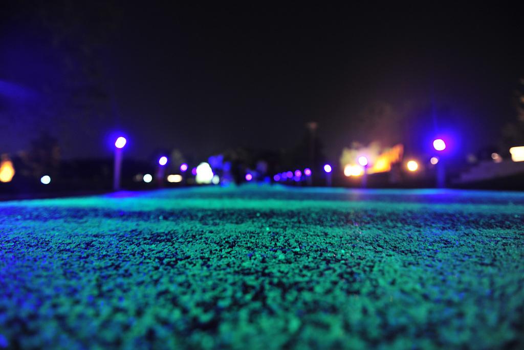 First luminous running tracks in Shenyang