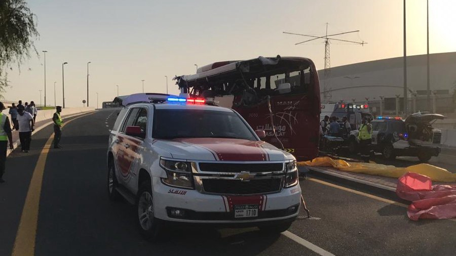 At least 17 dead after bus hits overhead sign in Dubai