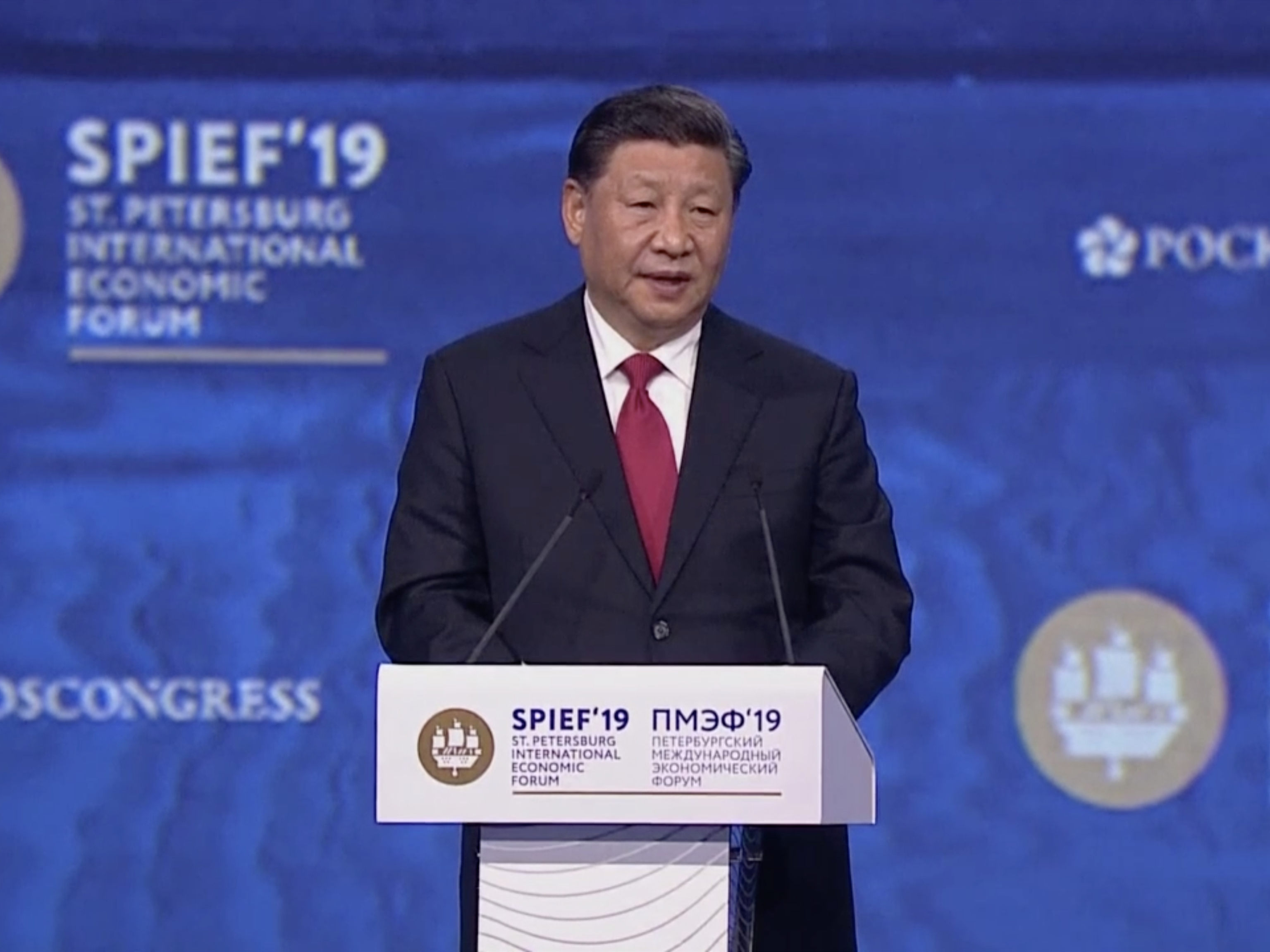 Xi addresses SPIEF in Russia for 1st time