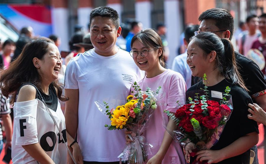 Examinees finish national college entrance exam across China