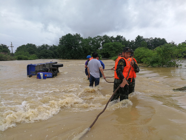 514,000 residents affected as hail, floods hit east China