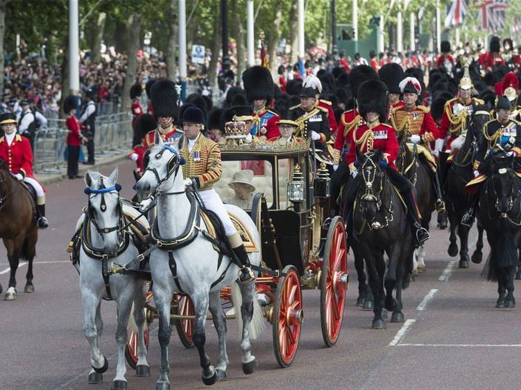 Queen Elizabeth II celebrates her official 93rd birthday in London